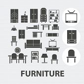 furniture icons set, vector