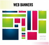 The set of web banners templates