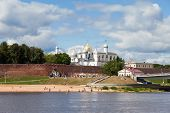 Novgorod, Russia - August 10: Kremlin Town Fortress With St. Sophia Cathedral On August 10, 2013 In