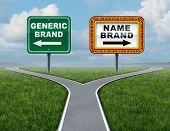 Постер, плакат: Generic Brand Versus Brand Name