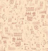 Seamless scribbles pattern
