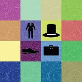 colorful background of gentleman costume