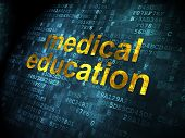 Medical Education on digital background