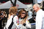 LOS ANGELES - APR 12:  Tricia Helfer, Vanessa Marcil at the Long Beach Grand Prix Pro/Celeb Race Day