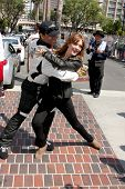 LOS ANGELES - APR 12:  Corbin Bleu, Amy Purdy at the Long Beach Grand Prix Pro/Celeb Race Day at the