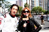 LOS ANGELES - APR 12:  Adrien Brody, Amy Purdy at the Long Beach Grand Prix Pro/Celeb Race Day at th