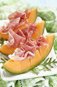 Fresh Melon with Prosciutto