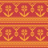 Cross stitch flower ornament seamless background