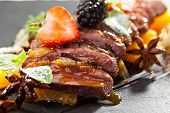 Duck Magret with Fruits and Berries