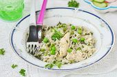 Rice With Chicken And Green Pea