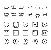 Washing instruction symbols collection