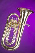 Tuba Euphonium Isolated On Purple