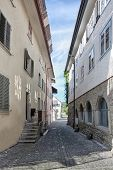 Stein an Rhein. The street of the ancient Swiss town. Europe