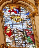 Baptism Stained Glass Basilica Cathedral Andalusia Granada Spain