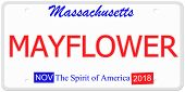 Massachusetts Mayflower License Plate