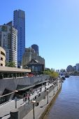 Southbank Melbourne and Yarra river