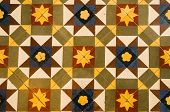 Vintage Ceramic Floor Tiles. Close-up