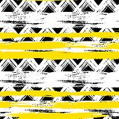 seamless ethnic zigzag pattern with bold brushstrokes