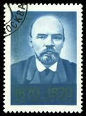 Vintage Postage Stamp. Photography Of  Lenin.