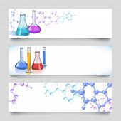 Laboratory Banners Set