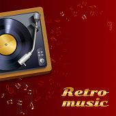 Record Player Music Background