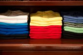 Multicolored Folded Shirts