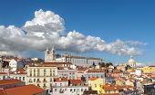 View Of Lisbon And Monastery Of Sao Vicente De Fora, Portugal