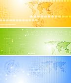 Bright technology vector banners collection