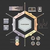 hexagon infographics
