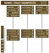 Rome Italy City Signboards