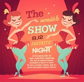foto of showgirl  - Cabaret Ladies poster - JPG