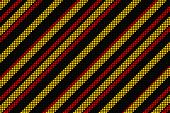 Digitally generated cool linear pattern in black red and yellow