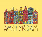 Amsterdam, vector card