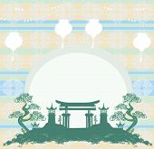Asian Buildings - Chinese New Year Card