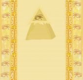 picture of illuminati  - Ancient Pyramid Eye Design card  - JPG