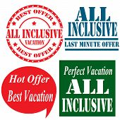 image of all-inclusive  - Set of labels with text All Inclusive - JPG