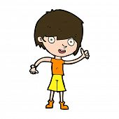 cartoon boy with positive attitude