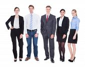 Group Of Businesspeople In Pose