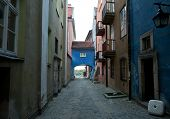 picture of tenement  - Tenement houses on Old Town in Warsaw Poland - JPG