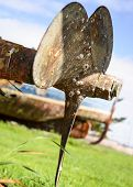 Old And Rusty Ship Propeller