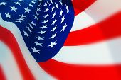 Stylized USA Flag With Limited DOF