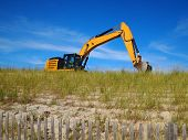 Bulldozer In Sand Dune