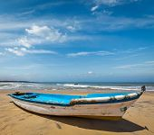Boat on a beach. India