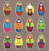 Russian Dolls Stickers