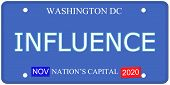 Washington Dc Influence License Plate