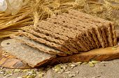 pic of hardtack  - Cereal crackers and seed on the kitchen - JPG