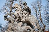 pic of polonia  - King John III Sobieski monument in Lazienki Park  - JPG