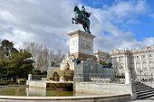 An Equestrian Statue Philip Iv, Madrid