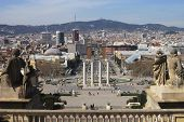 View Over Barcelona. Catalonia. Spain