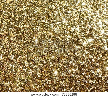 Gold Glitter Sparkle Sparkly Confetti Background Poster Id
